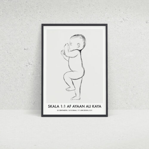 Birth Poster skala 1:1 NO1
