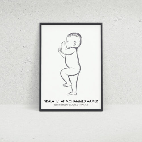 Birth Poster skala 1:1 NO4