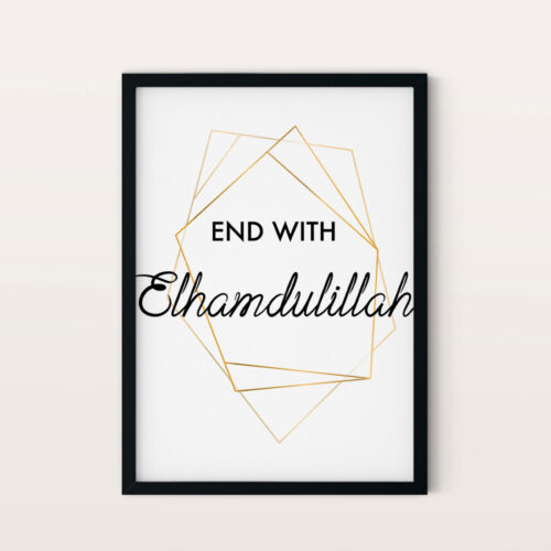 End with Elhamdulillah