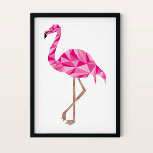 Low poly flamingo NO4